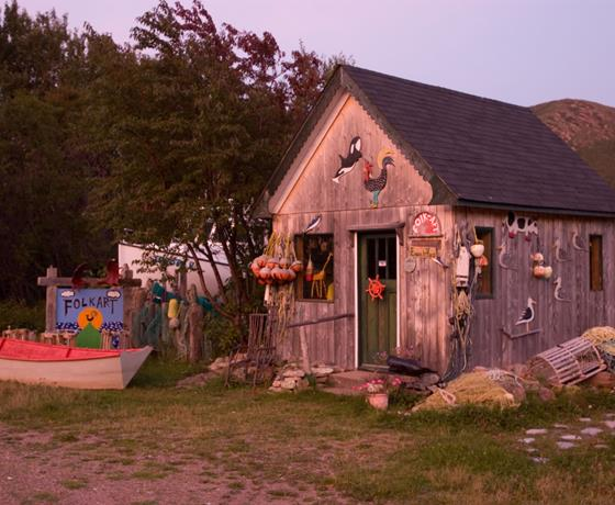 Folk Art shop on the Cabot Trail Cape Breton Island