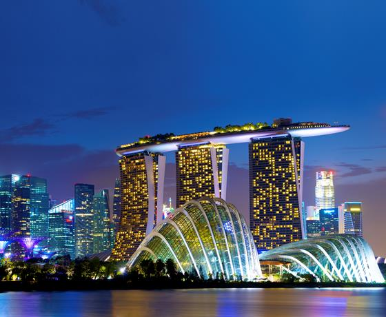 Singapore skyline Marina Bay
